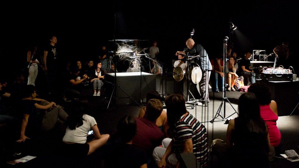 <p>Arachnid Orchestra. Jam Sessions at NTU CCA Singapore</p>