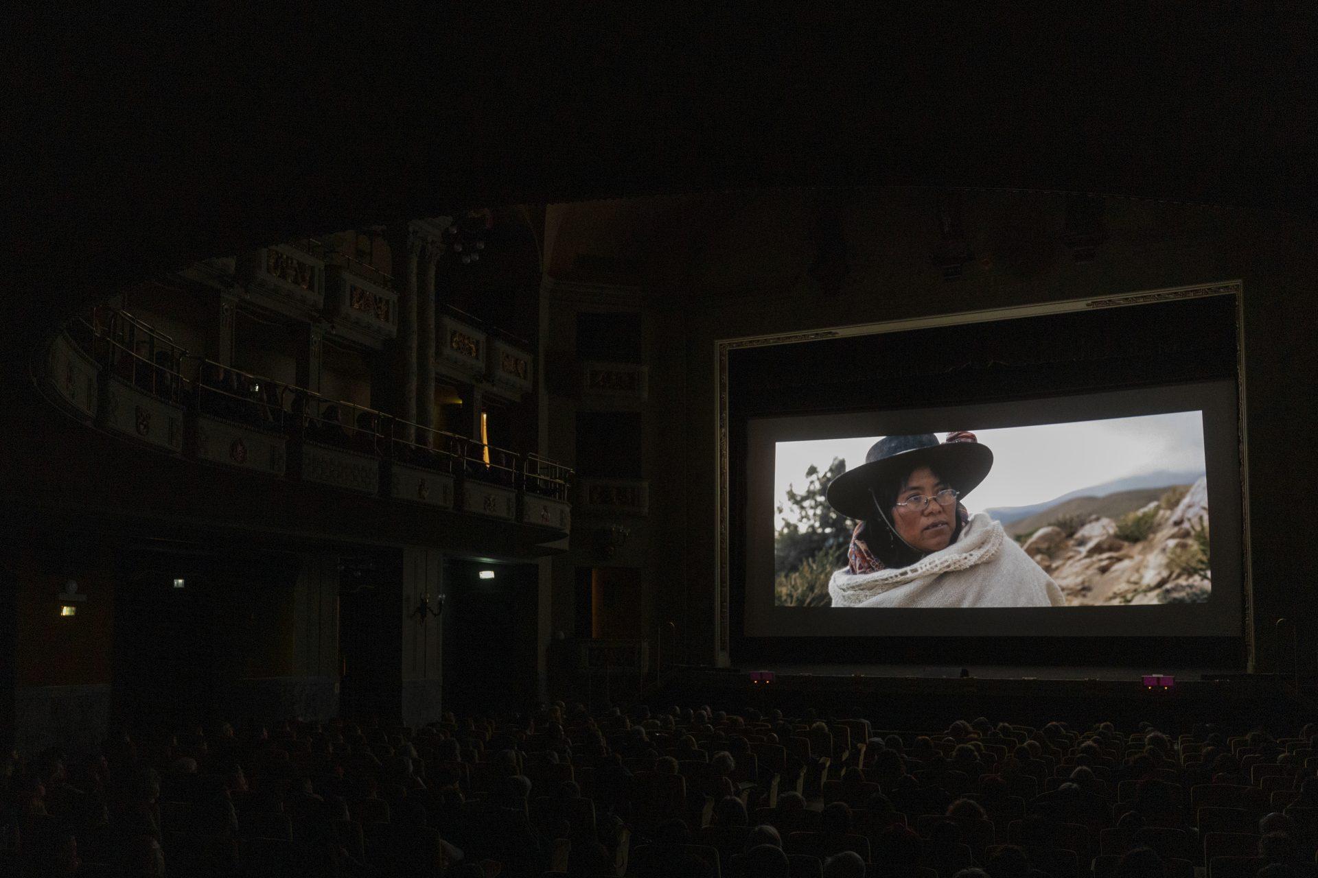 Tomás Saraceno. Aria at Cinema Odeon